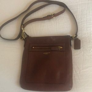 Brown cross body bag
